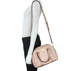 Kate Spade Felix Rose Gold Satchel Crossbody Bag